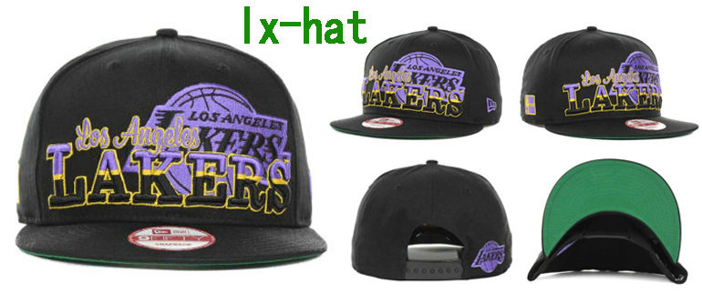 Los Angeles Lakers Black Snapback Hat GF